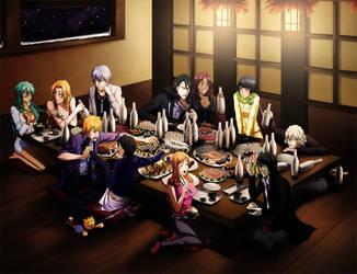 BLEACH - Dinner at restaurant by Arya-Aiedail