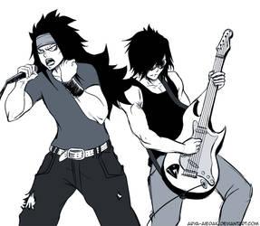 As a rock band by Arya-Aiedail