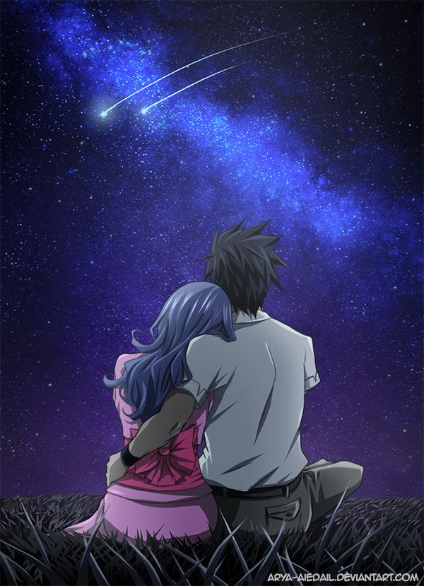 Gruvia - Tanabata by Arya-Aiedail on DeviantArt   600 x 829 jpeg 553kB