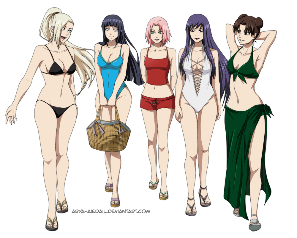 1f979ed358 Kunoichi - Going to the Beach by Arya-Aiedail on DeviantArt