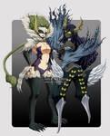 Kyoka and Sayla - Etherious form