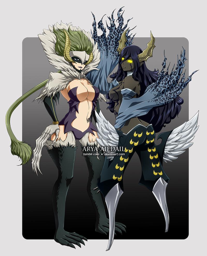Kyoka and Sayla - Etherious form by Arya-Aiedail on DeviantArt