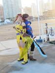 Skies of Arcadia cosplay - Vyse and Aika 01 by alandria7