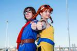 Skies of Arcadia cosplay - Vyse and Aika 02 by alandria7
