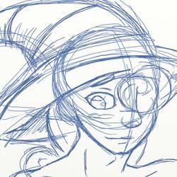 Paper Mario - Vivian sketch by oddsocket