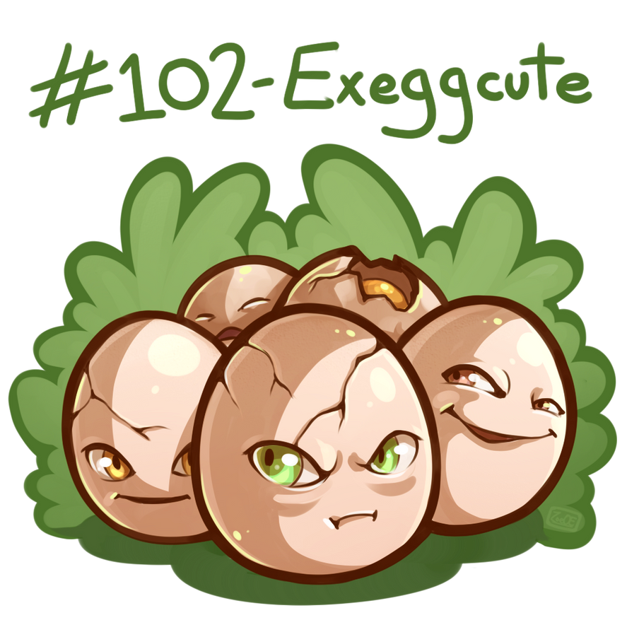 102 - Exeggcute by oddsocket