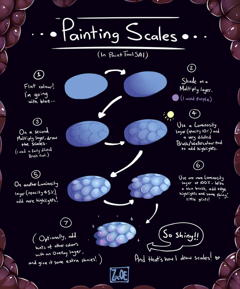 How To Draw Galaxy Paint Tool Sai