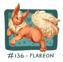 136 - Flareon by oddsocket