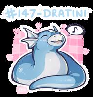 147 - Dratini by oddsocket