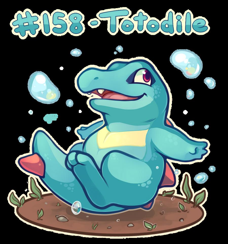 Pokemon #158 - Totodile by oddsocket