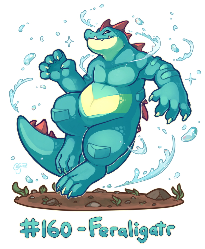 Pokemon #160 - Feraligatr by oddsocket