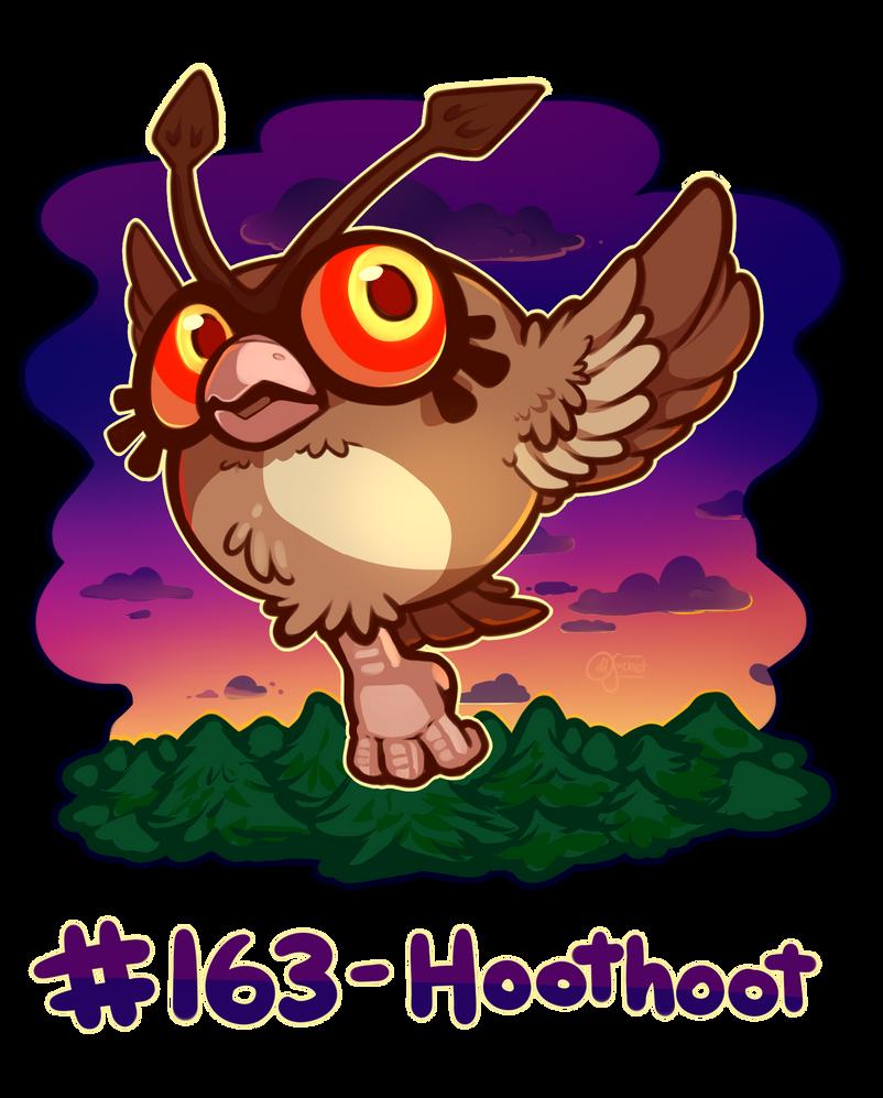 Pokemon #163 - Hoothoot by oddsocket