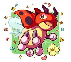 Pokemon #165 - Ledyba by oddsocket
