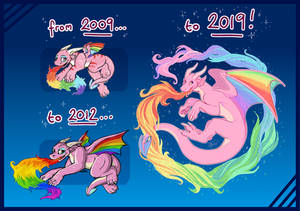 Draw This Again - The Rainbow Dragon, 1 Decade On!