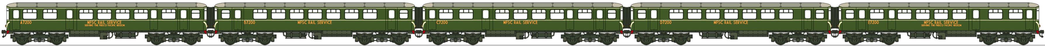 MFSC MU Passenger Diesel 1951 by Lapeer