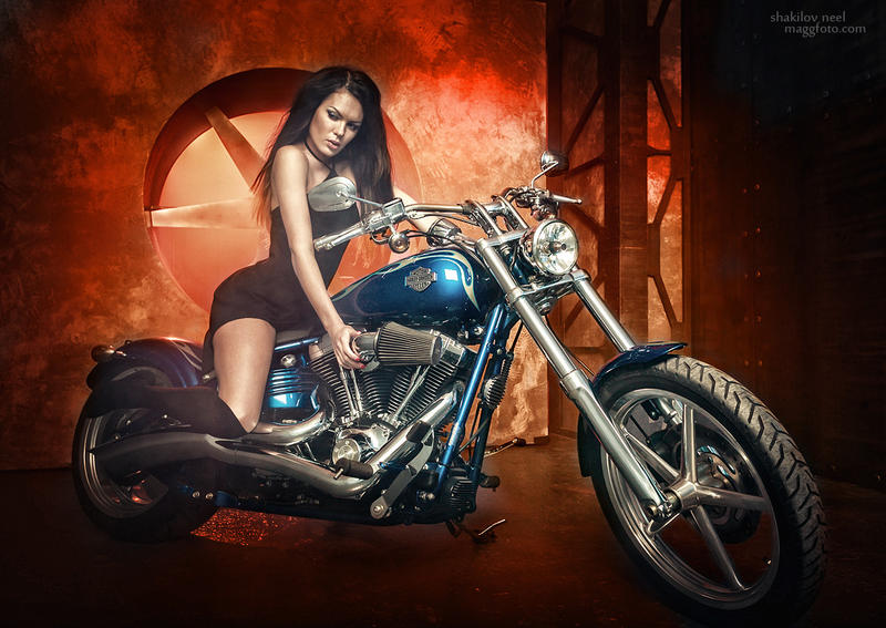 On Harley Davidson by ShakilovNeel