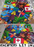 mural on board for kids