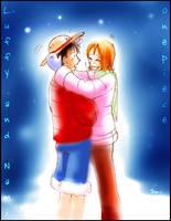 Luffy Nami by jinguj