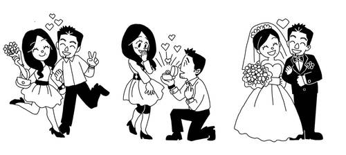 wedding cartoon for sister