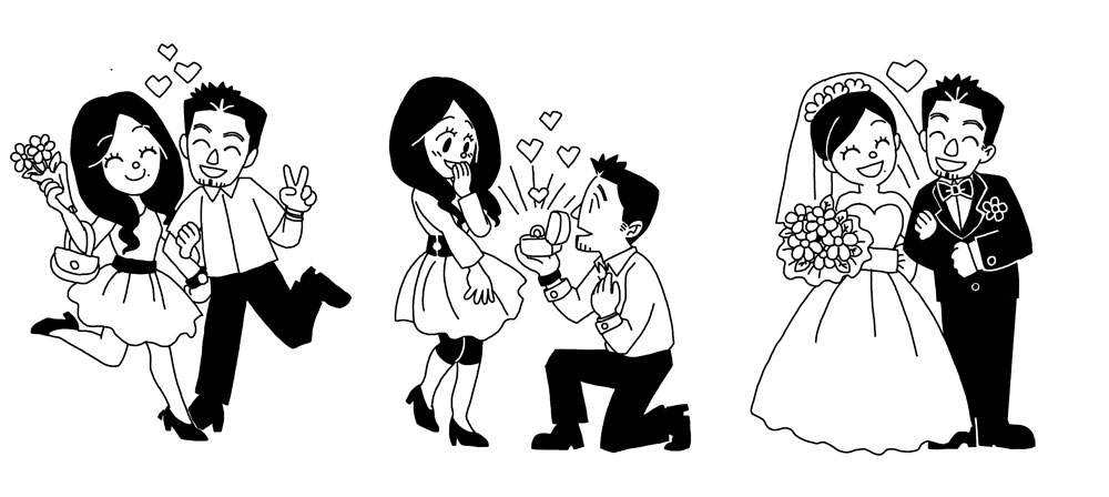 Wedding Cartoon For Sister By Jinguj On Deviantart