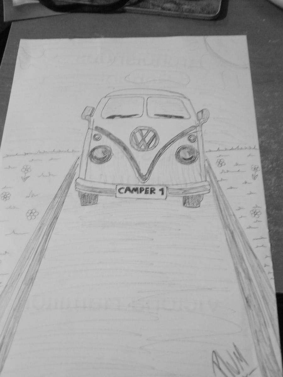 vw campervan by plums-art