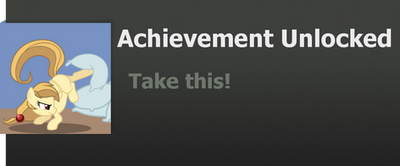 Achievement: Take this! by WolfProduction