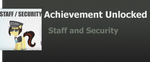 Achivement: Staff and Security by WolfProduction