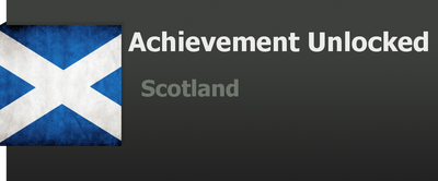 Achievement: Scotland by WolfProduction