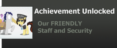 Achievement: Our FRIENDLY Staff and Security by WolfProduction