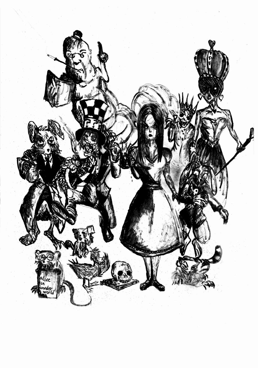 alice in wonderland characters by teacherpump on DeviantArt