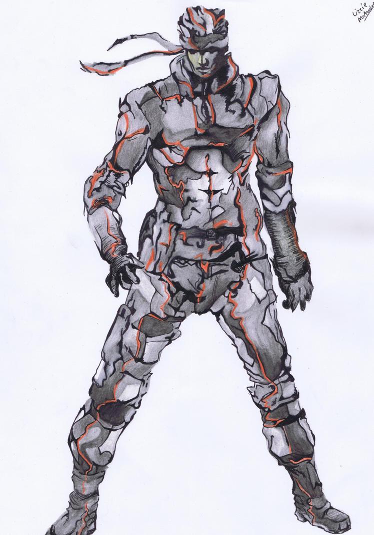 Solid Snake by Xlizziebee116