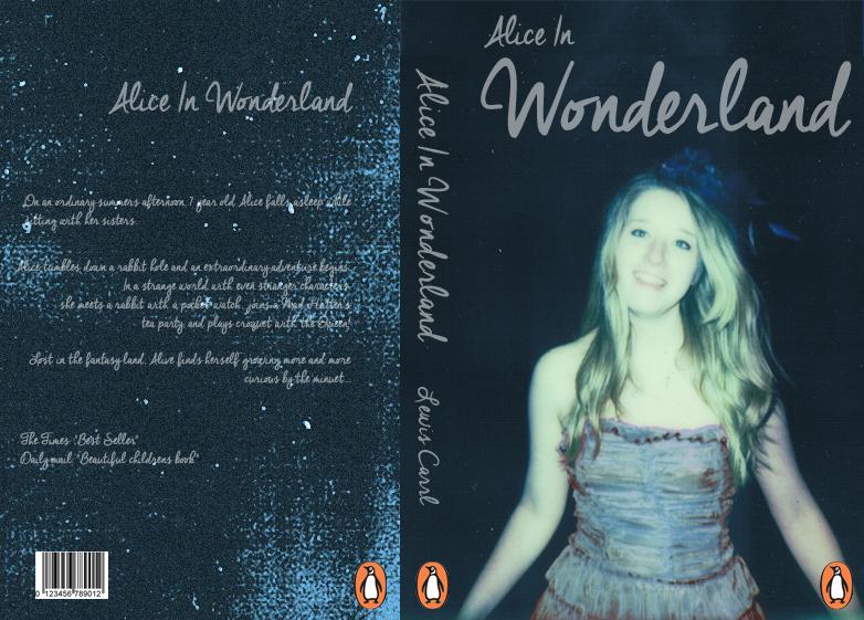 Alice In Wonderland Book Cover Ideas : Alice in wonderland penguin book cover design by