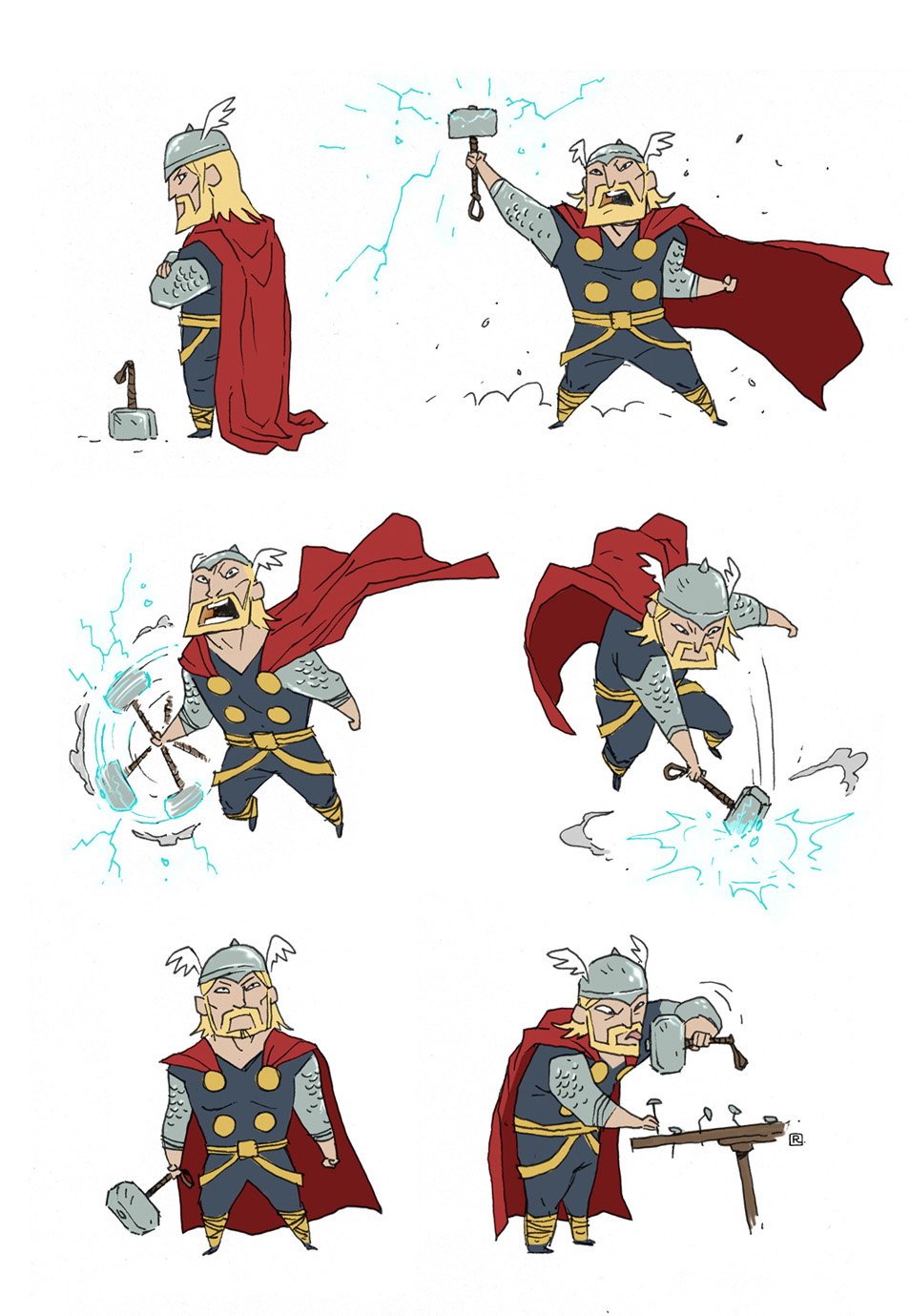 """Little"" Thor by darrenrawlings"