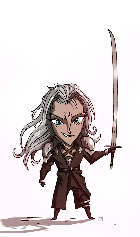 'Little' Sephiroth by darrenrawlings