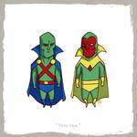 Little Friends - Martian Manhunter and Vision