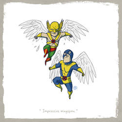 Little Friends - Hawkman and Angel