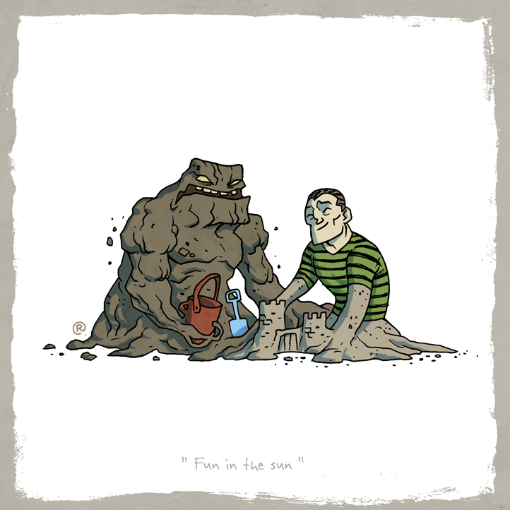 Little Friends - Clayface and Sandman by darrenrawlings
