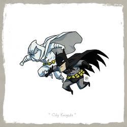Little Friends - Moon Knight and Dark Knight