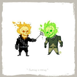 Little Friends - Ghost Rider and Atomic Skull