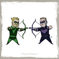 Little Friends - Green Arrow and Hawkeye