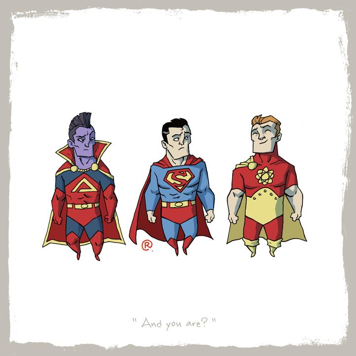 Siguen las imágenes bizarras y raras - edicion New 52- Little_friends_superman_and_gladiator_and_hyperion_by_rawlsy-d63h6ow