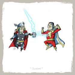 Little Friends - Thor and Captain Marvel