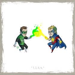 Little Friends - Green Lantern  and Quasar