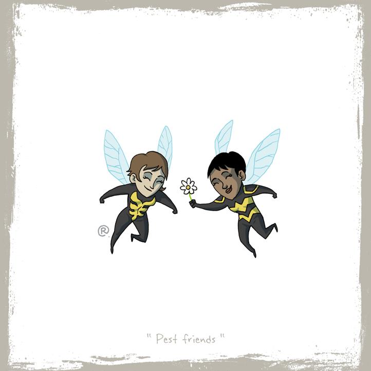 Siguen las imágenes bizarras y raras - edicion New 52- Little_friends___wasp_and_bumblebee_by_rawlsy-d64czes
