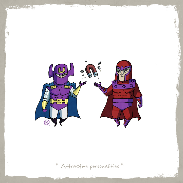 Little Friends - Dr.Polaris and Magneto by darrenrawlings