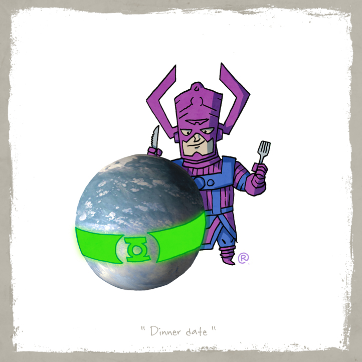 Little Friends - Galactus and Mogo by darrenrawlings