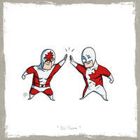 Little Friends - Captain Canuck and Guardian