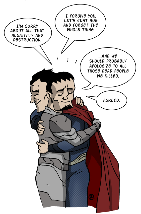 Superman Zod Bromance by darrenrawlings