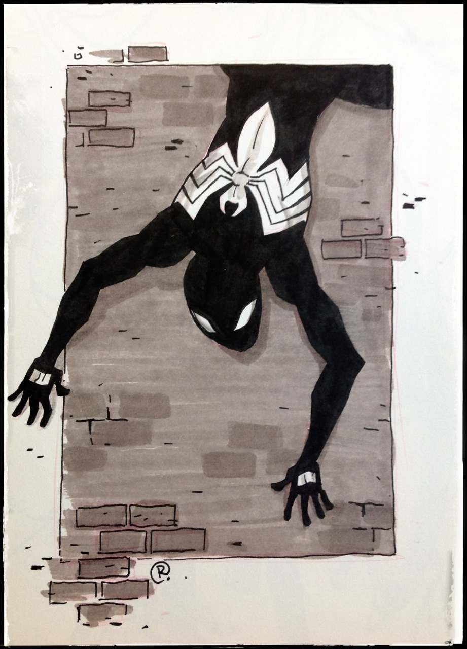 DailyDoodle Spidey by darrenrawlings