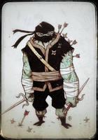 DailyDoodle Ninja Tortoise by darrenrawlings